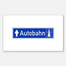 Autobahn Sign, Germany Decal
