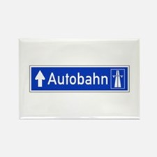 Autobahn Sign, Germany Rectangle Magnet