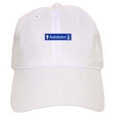 Autobahn Sign, Germany Baseball Cap