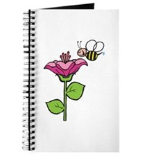 Cute Silly Bee With Flower Journal