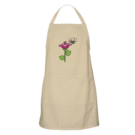 Cute Silly Bee With Flower BBQ Apron