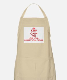 Keep Calm and love your Corrections Officer Apron