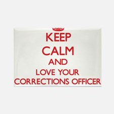 Keep Calm and love your Corrections Office Magnets