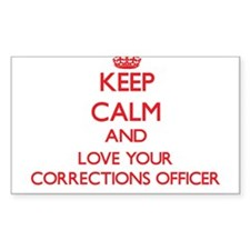 Keep Calm and love your Corrections Office Decal