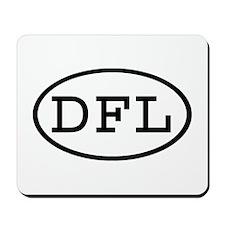 DFL Oval Mousepad
