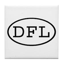 DFL Oval Tile Coaster