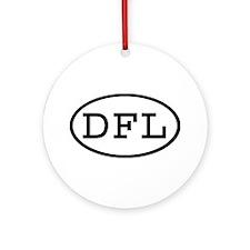 DFL Oval Ornament (Round)