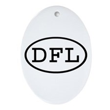 DFL Oval Oval Ornament