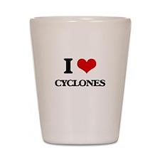I love Cyclones Shot Glass