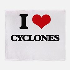 I love Cyclones Throw Blanket
