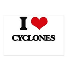 I love Cyclones Postcards (Package of 8)