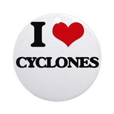 I love Cyclones Ornament (Round)
