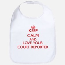 Keep Calm and love your Court Reporter Bib