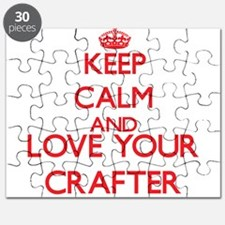 Keep Calm and love your Crafter Puzzle