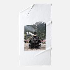 Steam train engine Colorado, USA 4 Beach Towel