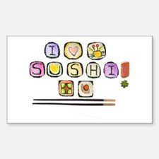 sushi Rectangle Decal