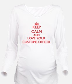 Keep Calm and love y Long Sleeve Maternity T-Shirt