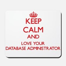 Keep Calm and love your Database Adminis Mousepad