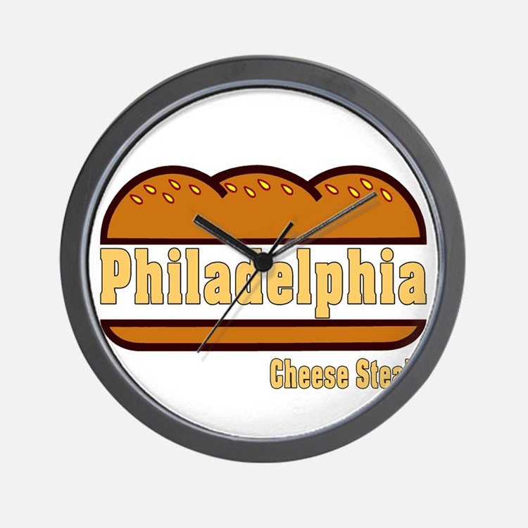 Philly Cheesesteak Wall Clock