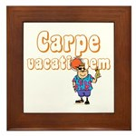 Carpe Vacationem m Framed Tile