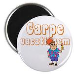 "Carpe Vacationem m 2.25"" Magnet (10 pack)"