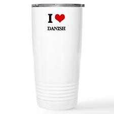I Love Danish Travel Mug