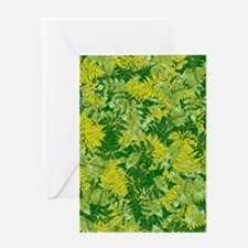 Green foliage Greeting Cards