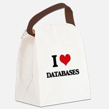 I Love Databases Canvas Lunch Bag