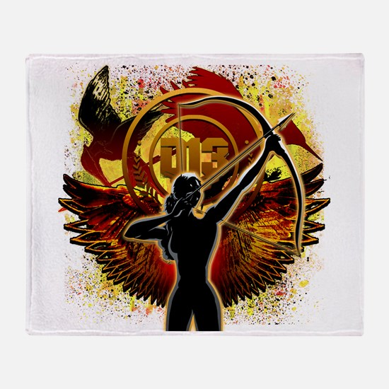 I Am The Mockingjay Throw Blanket