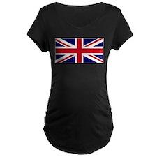 United Kingdom Flag Dark Maternity T-Shirt