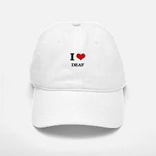 I Love Deaf Baseball Baseball Cap