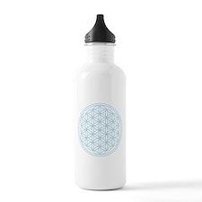 Flower of Life Blue Sports Water Bottle