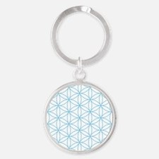 Flower of Life Blue Keychains