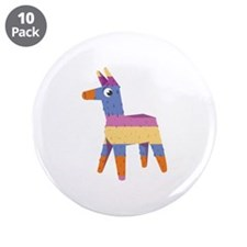 "Pinata Donkey 3.5"" Button (10 pack)"