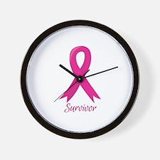 Survivor Ribbon Wall Clock