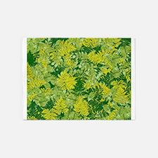 Green foliage 5'x7'Area Rug