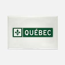 Quebec, Road Sign, Canada Rectangle Magnet