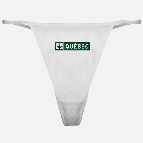 Quebec, Road Sign, Canada Classic Thong