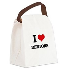 I Love Debtors Canvas Lunch Bag