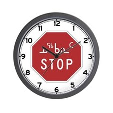 Stop, Traffic Sign, Canada Wall Clock
