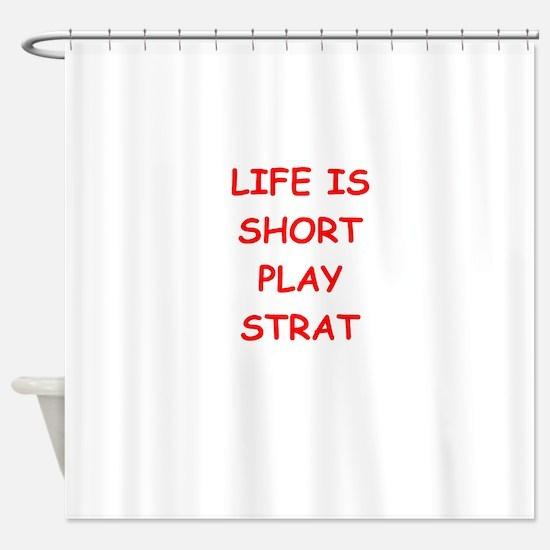 i love strat Shower Curtain