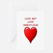 i love wrestling Greeting Cards