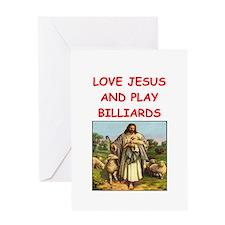 i love billiards Greeting Cards