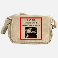 i love billiards Messenger Bag