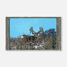 Old Cabin Window Monster buck 7 Wall Decal