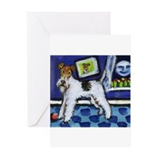 Unique Wire fox terrier Greeting Card