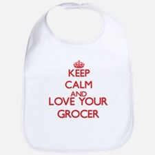 Keep Calm and love your Grocer Bib