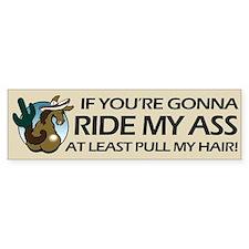 Ride My Ass Bumper Sticker (Donkey)
