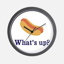 Whats up (Hot) Dog Funny Wall Clock