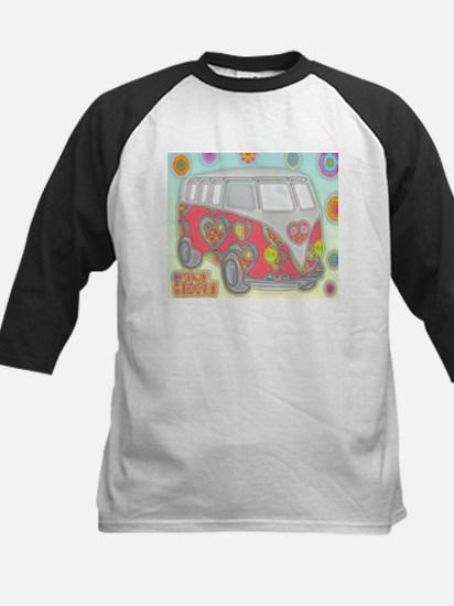 Hippie Van Glass Print Baseball Jersey